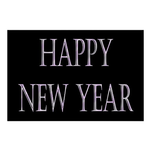 happy new year silver banner print