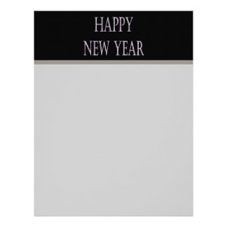 happy new year silver holiday letterhead