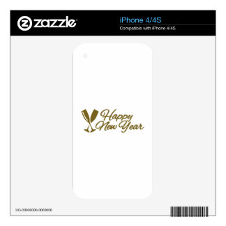 Happy New Year iPhone 4 Skins
