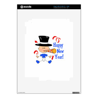 HAPPY NEW YEAR iPad 2 SKINS