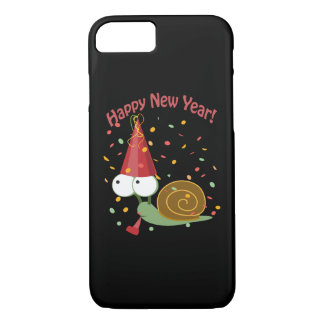 Happy new Year Snail iPhone 8/7 Case