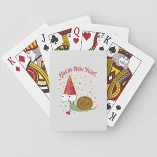 Happy New Year! Snail Playing Cards