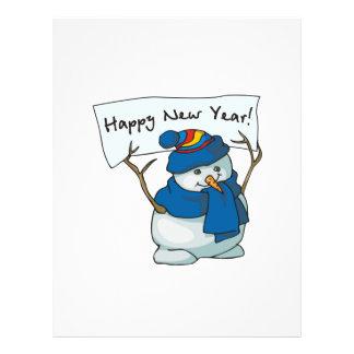 Happy New Year Snowman Flyers