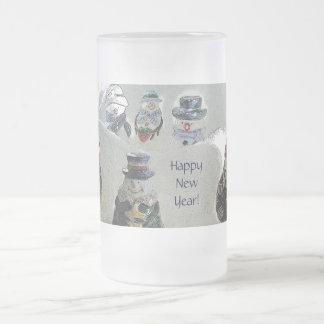 Happy New Year Snowmen Mug By Janz