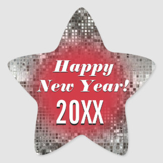 Happy New Year! Sparkling Star Cool Stickers