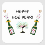 Happy New Year Square Sticker