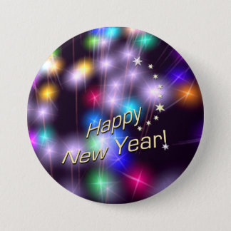 Happy New Year Star Lights Button