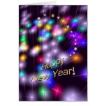 Happy New Year Star Lights Greeting Card