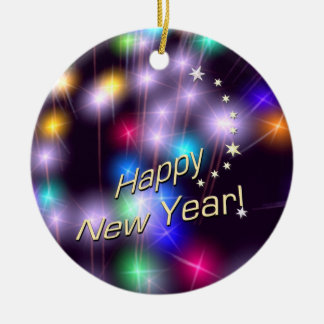 Happy New Year Star Lights Ornaments