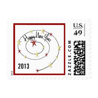 Happy New Year Stars Celebrate 2013 Stamp (small)