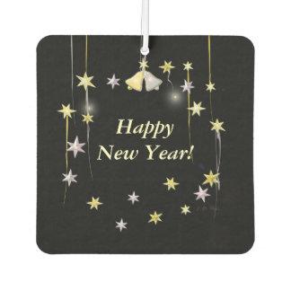 Happy New Year Stars on Black