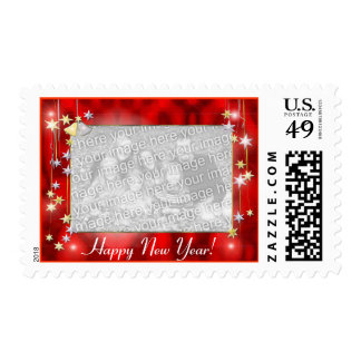 Happy New Year Stars Photo Frame Postage