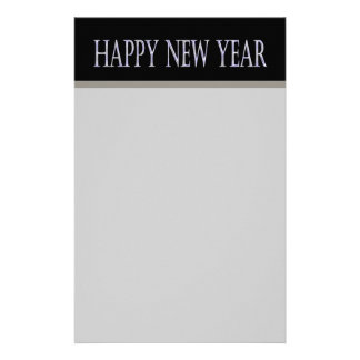 happy new year personalized stationery