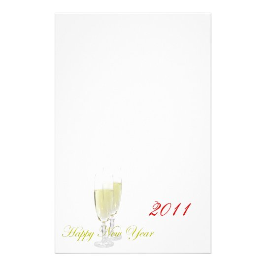 Happy New Year Stationery Template