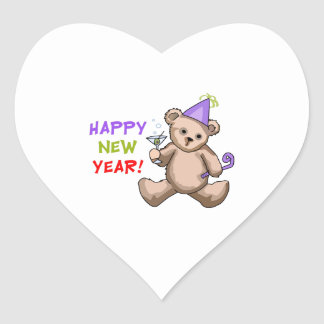 Happy New Year ! Heart Stickers