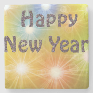 happy new year stone coaster
