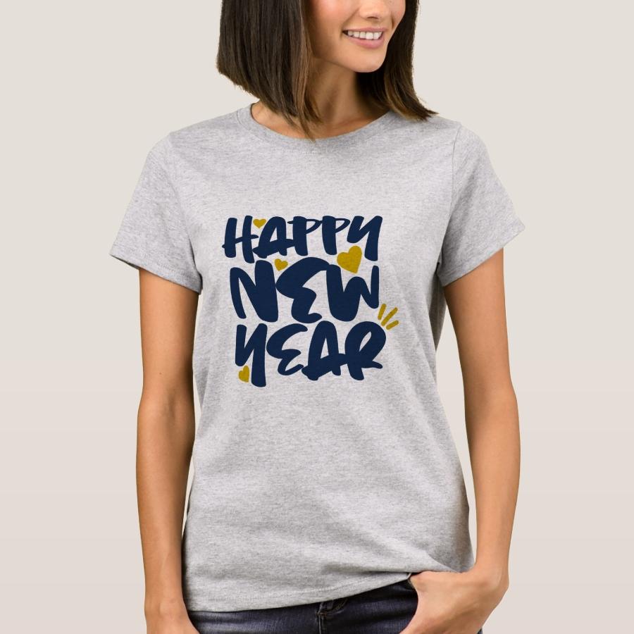 Happy New Year T-Shirt - Best Selling Long-Sleeve Street Fashion Shirt Designs
