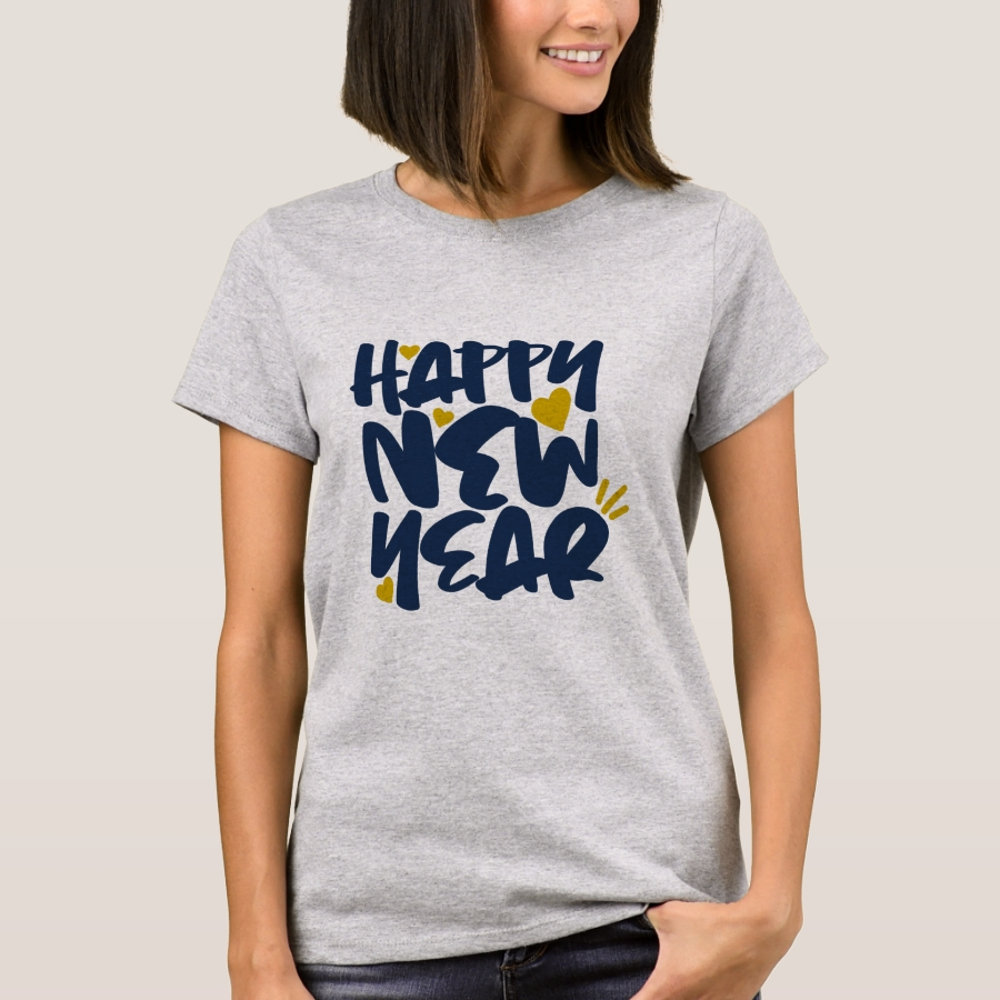 Happy New Year T-Shirt - Best Selling Long-Sleeve Street Fashion Shirt Designs