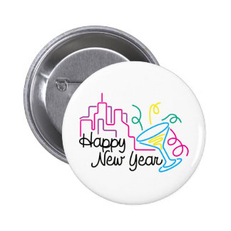 Happy New Year T-Shirts New Year's Button