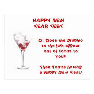 HAPPY NEW YEAR TEST POSTCARD