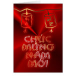 Happy New Year Tet  Vietnamese New Year CNY Chines Greeting Card