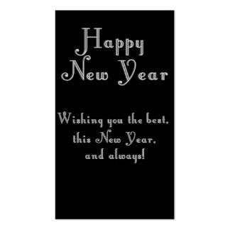 Happy New Year Text Design Double-Sided Standard Business Cards (Pack Of 100)