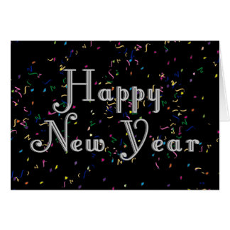 Happy New Year Text Design Greeting Card