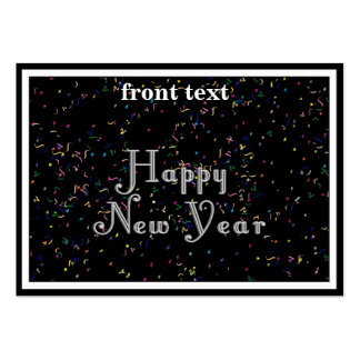 Happy New Year Text Design Large Business Cards (Pack Of 100)