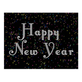 Happy New Year Text Design Post Cards