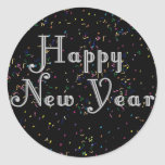 Happy New Year Text Design Stickers