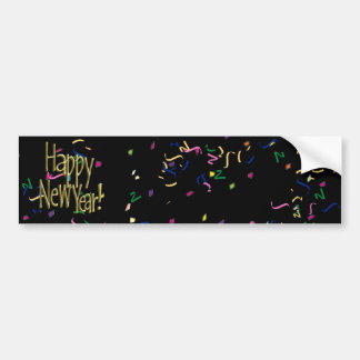 HAPPY NEW YEAR! Text Image Bumper Sticker