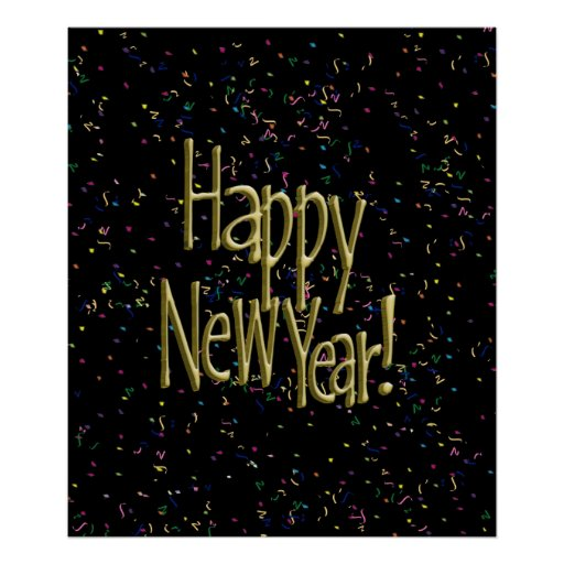 HAPPY NEW YEAR! Text Image Posters