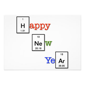 Happy New Year to your chemist friends Invite