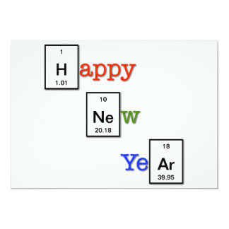 Happy New Year to your chemist friends 5x7 Paper Invitation Card