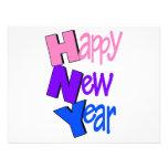 Happy New Year Tri Color 2 Invites