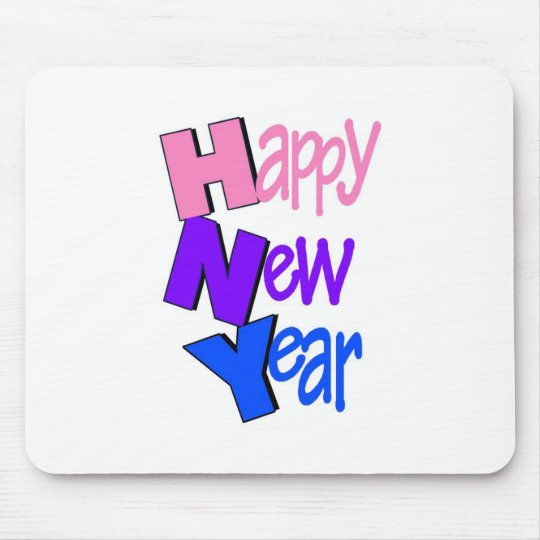 Happy New Year Tri Color 2 Mouse Pad