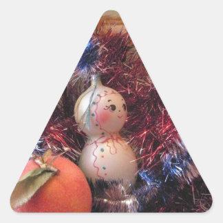 Happy New Year Triangle Sticker