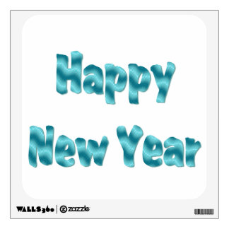 Happy New Year turquoise Wall Sticker