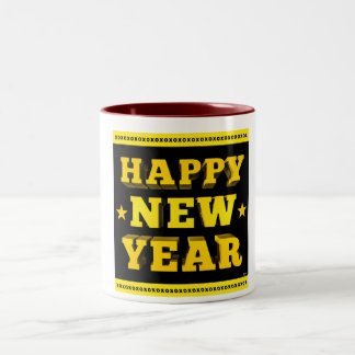 Happy New Year Two-Tone Coffee Mug