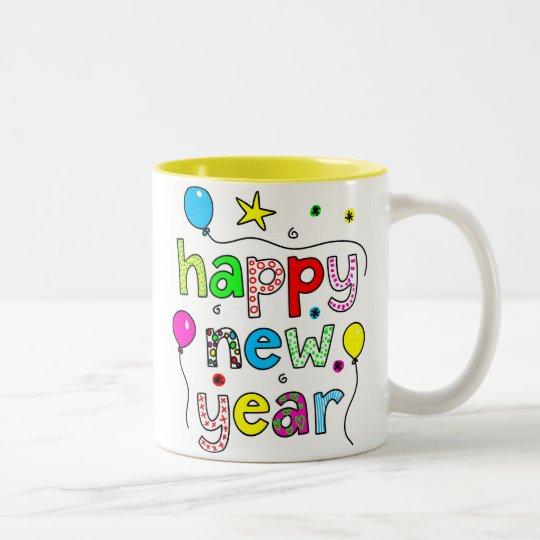 Happy New Year Two-Tone Coffee Mug