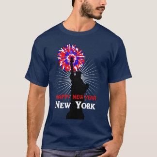 Happy New Year USA Statue Of Liberty T-Shirt