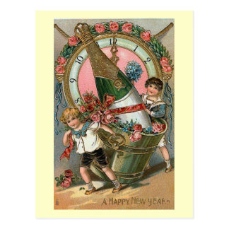 """Happy New Year"" Vintage Postcard"