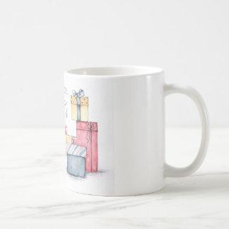 Happy New Year Watercolor Sketch Coffee Mug