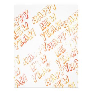 happy new year white custom letterhead