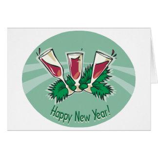 Happy New Year Wine Card