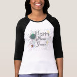 Happy New Year with Champagne & Confetti T Shirt
