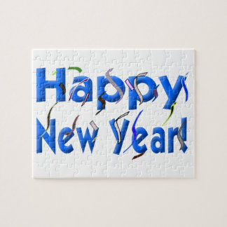 Happy New Year! with Confetti Jigsaw Puzzle