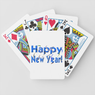 Happy New Year! with Confetti Bicycle Poker Cards