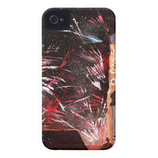 Happy New Year - with Fireworks in Munich iPhone 4 Case-Mate Case