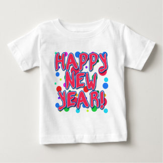 Happy New Year with Fun Dots Baby T-Shirt